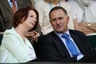 Australian PM Julia Gillard and New Zealand PM John Key. Photo / Getty Images