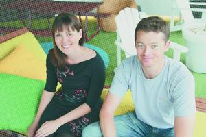 New Zealanders' Amanda Jordan and James Webb work at Google in Sydney. Photo / Supplied