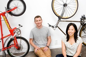 Joshua Lindsay and Sarah Chong, founders of new online store Wocolate. Photo / Babiche Martens