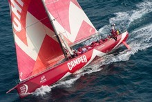 'Camper' with Emirates Team New Zealand, skippered by Chris Nicholson. Photo / Getty Images