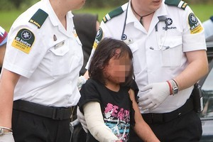 Ambulance officers treated the girl before taking her to Rotorua Hospital with moderate injuries. Photo / Rotorua Daily Post