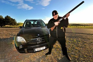 Kim Dotcom had 'unlawful firearms' at his house. Photo / Supplied