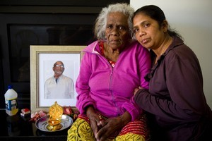 Nirmala Balaras and her mother 70-year-old Thankamuthru Mylvaganam. Photo / Dean Purcell.