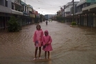 The main street in the centre of Nadi is flooded. Photo / supplied.