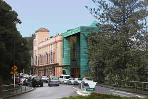 An architects imprression of the proposed extension to Lopdell House Arts Centre. Picture / supplied