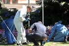 Police investigate the scene where a body was found in Rotorua's Kuirau Park overnight. Photo / Ben Fraser