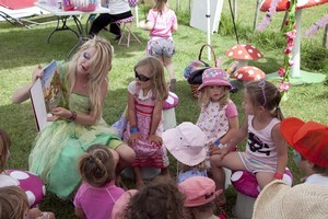 Story time was  popular with the kids at Bloom. Photo / Supplied