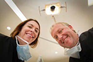 Dentists Louisa Cullen and Richard Beale hope to revive their practice. Photo / Martin Hunter
