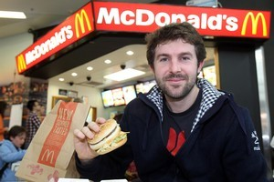 Murray White, 31, says food is cheaper in Germany. Photo / Janna Dixon