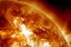 This NASA image - taken this week - shows a  solar flare erupting on the Sun's northeastern hemisphere. Photo / supplied