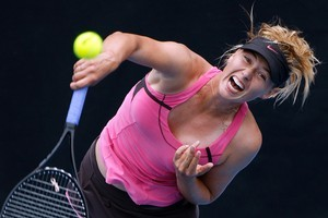 Maria Sharapova of Russia in screaming action. Photo / Sarah Ivey