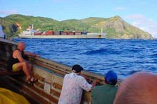 Pitcairn Island visitor numbers have fallen since a shipping lane change rerouted valuable sea traffic. Photo /