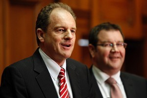 Labour Party leader David Shearer and deputy leader Grant Robertson. Photo / Mark Mitchell