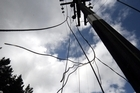 The man was killed by a power line that had come down from a power pole on the farm. Photo / APN