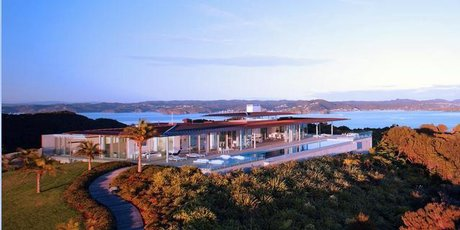 Eagles Nest, a lodge in the Bay of Islands that is up for sale. Photo / supplied