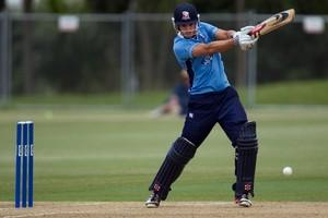 Auckland Aces batsman Anaru. Photo / Brett Phibbs