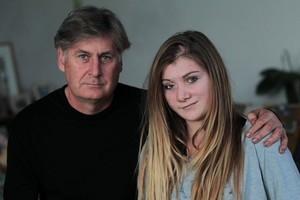 Carolina Anderson, who was attacked in 2003 when she was 7, pictured with her father John Anderson last year. Photo / Doug Sherring
