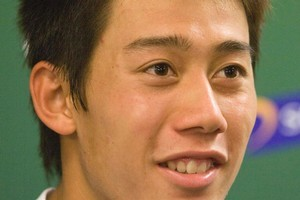 Kei Nishikori is only the second Japanese player in the Open era to make it to the grand slam. Photo / NZPA