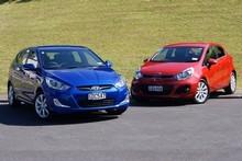 Hyundai Accent and Kia Rio (r