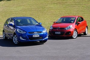 Hyundai Accent and Kia Rio (right). Photo / Supplied
