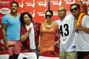 The cast of Sione's 2: Unfinished Business attend the film's premiere in Apia. Photo / Abril Esquivel