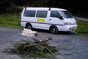 Council staff discovered illegal freedom campers had set material ready for lighting in a fire ban area. Photo / Supplied