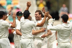The Black Caps made history in their last test match - beating Australia in Hobart. Photo / Getty Images