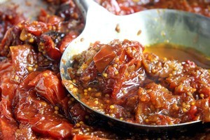 Roasted tomato chutney is a thick, hot condiment. Photo / Janna Dixon