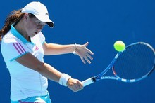 Emily Fanning in action at the Australian Open. Photo / Getty Images