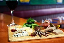 La Cantine's mixed board selection of French cheeses, charcuterie and gherkins. Photo / Sarah Ivey