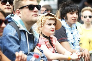 The Laneway Festival tends to attract an edgier crowd than the Big Day Out. Photo / Richard Robinson