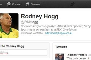 Cricketer Rodney Hogg's Twitter page. Photo / File