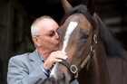 Kevin Marshall with Dreamcoat, which is racing in the Karaka Million race tomorrow. Photo / Richard Robinson