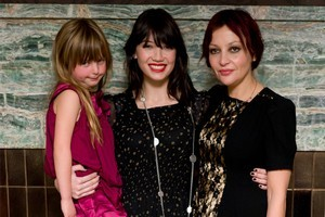 British designer Pearl Lowe (right) with her daughter Betty (5) and Daisy (22). Photo / AP