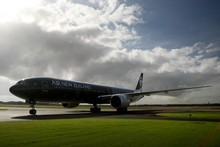 Air New Zealand saw earnings fall 45 per cent to $75 million for the year ended June 30 and said it was reviewing long-haul routes. Photo / Greg Bowker