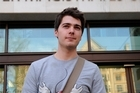 Student Richard O'Dwyer arrives at court in London to receive judgment on a US extradition request. Photo / AFP