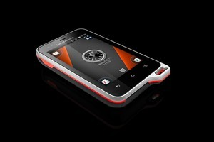 Sony Ericsson's Xperia Active is a solid sportdroid - despite the Billabong branding. Photo / Supplied