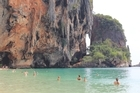 Swimmers at Thailand's Ao Phra Nang Beach. Photo / Charlotte Whale