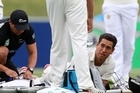 Ross Taylor expects to be out of action for three to four weeks after he damaged his calf taking off for a single in the one-off test at McLean Park, Napier, yesterday. Photo / Getty Images