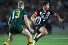 Fleet-footed Warriors halfback Shaun Johnson has kept his place in the Kiwis squad. Photo / Getty Images