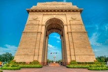 The towering India Gate, New Delhi's answer to the Arc de Triomphe. Photo / Thinkstock