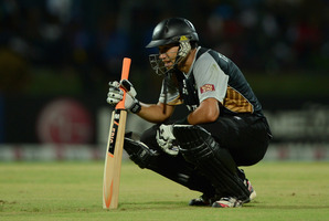 Captain Ross Taylor feels the pressure during New Zealand's loss to the West Indies. Photo / Getty Images