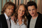William H Macy, Helen Hunt and John Hawkes from the move The Sessions. Photo / AP