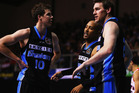 Tom Abercrombie, CJ Bruton and Dillon Boucher of the Breakers look on during the round one NBL match between the New Zealand Breakers and the Perth Wildcats. Photo / Getty Images.