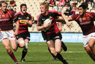 Johnny McNicholl (C) of Canterbury runs in to score a try during the round 11 ITM Cup match between Canterbury and Southland. Photo / Getty Images.