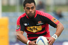 Telusa Veainu of Canterbury makes a break. Photo / Getty Images.
