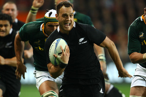Israel Dagg scored a dramatic, late try to give the All Blacks a famous 29-22 victory over South Africa in 2010. Photo / Getty Images.