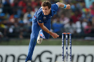 Steven Finn's bowling action in England's T20 win over New Zealand may also result in a new law. Photo / Getty Images.