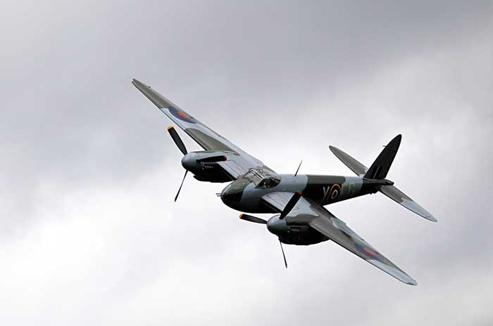 Grant Stantiall sent this picture of the Mosquito on its first run, at 11am.