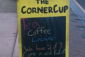 Tea and cofee not to be sniffed at. Photo / Supplied